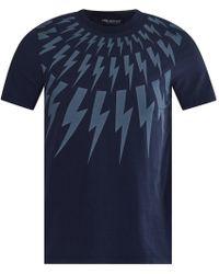 Neil Barrett - Vintage Navy Lighting Bolt T-shirt - Lyst