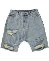 Haculla - Eyez On Me Denim Shorts - Lyst