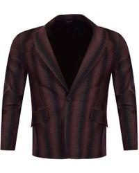 Vivienne Westwood - Man Burgundy/black Striped Blazer - Lyst