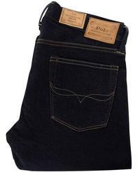 Polo Ralph Lauren - Dark Blue Stretch Slim Denim Jeans - Lyst