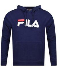 Fila - Blue Pullover Hoodie - Lyst