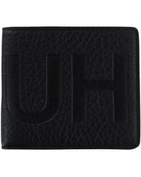 HUGO - Leather Printed Wallet - Lyst