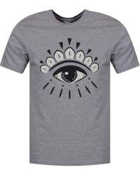 KENZO - Pale Grey Tonal Eye Logo T-shirt - Lyst