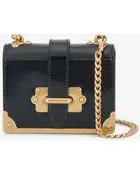 Prada - Patent Leather Micro Cahier Box Bag - Lyst