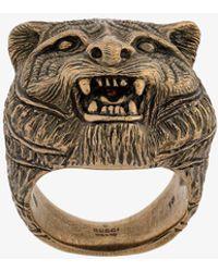 Gucci - Feline Motif Ring - Lyst