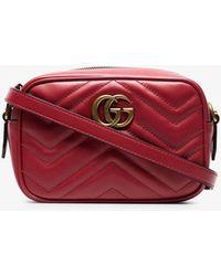 7b8efdf26614 Gucci Gg Marmont Matelassé Medium Shoulder Bag In Taupe in Natural ...