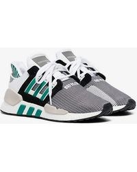 outlet store 538e2 ce000 adidas - White And Grey Eqt Support 9118 Trainers - Lyst