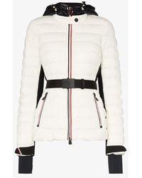 3 MONCLER GRENOBLE Bruche Belted Ski Jacket - White