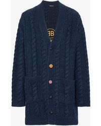 Balenciaga - Bb Mode Embroidered Cardigan - Lyst