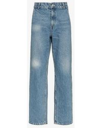 ADER error - Faded Straight Cotton Jeans - Lyst