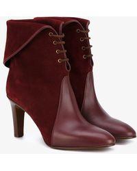 Chloé - Suede Kole Ankle Boots - Lyst