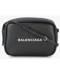 Balenciaga - Black Everyday Camera Leather Bag - Lyst
