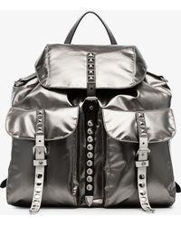 Prada - Studded-strap Backpack - Lyst