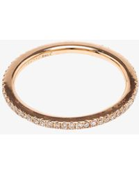 Rosa De La Cruz - Rose Gold Diamond Midi Ring - Lyst
