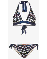 Missoni - Halterneck Zigzag Lurex Bikini - Lyst