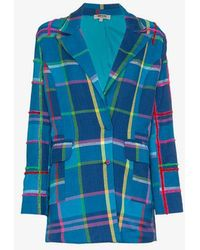 All Things Mochi - Long Sleeve Check Blazer Jacket - Lyst