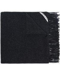 Acne Studios - Black Canada Oversized Wool Scarf - Lyst