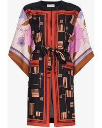 Dries Van Noten - Graphic Silk Kimono - Lyst