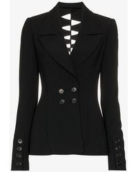 Kitx - Draped Cuff Double Breasted Jacket - Lyst