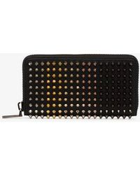 Christian Louboutin - Multi Metal Panettone Embellished Leather Wallet - Lyst