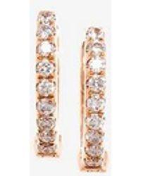 Rosa De La Cruz - Diamond Hoop Earrings - Lyst