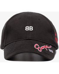 Balenciaga - Bb Europe Embroidered Cap - Lyst
