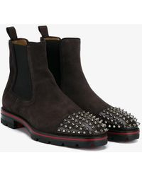 christian louboutin boots mens