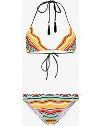 Missoni - Multicoloured Zig Zag Triangle Bikini - Lyst