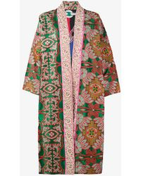 Rianna + Nina | Sequin Floral Embroidered Robe | Lyst