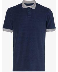 Orlebar Brown - Jarrett Striped Collar Polo Shirt - Lyst