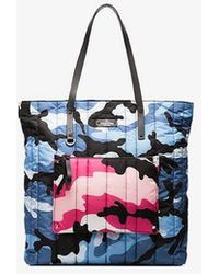 Valentino - Multicoloured Camouflage Print Quilted Tote - Lyst