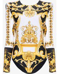 Versace - Barocco Ss'92 Print Bodysuit - Lyst