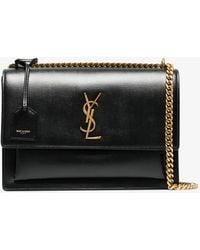 Saint Laurent - Black Sunset Medium Leather Bag - Lyst