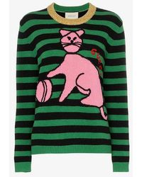Gucci - Jumper With Cat And Baseball - Lyst