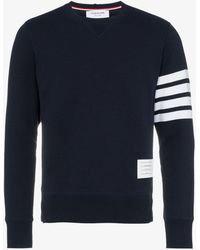 Thom Browne - Sweatshirt With White Stripes - Lyst