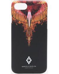 Marcelo Burlon - Black, Red And Orange Flames Iphone 8 Case - Lyst