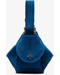 MANU Atelier   Blue Fernweh Micro Suede Bag   Lyst