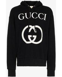 11e57ca2f5d Gucci - Hooded Sweatshirt With Interlocking G - Lyst
