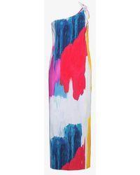Mara Hoffman - Clara One-shoulder Midi Abstract Print Dress - Lyst