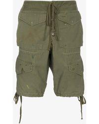 Greg Lauren - Army Cargo Shorts - Lyst