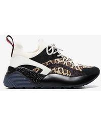 Stella McCartney - Multicoloured Eclypse Leopard Print Sneakers - Lyst