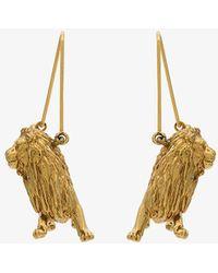Givenchy - Gold Metallic Leo Zodiac Earrings - Lyst