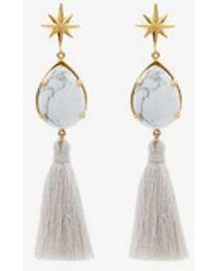 afa644f51cd Marte Frisnes - White And Gold Metallic ziggy Sterling Silver Earrings -  Lyst