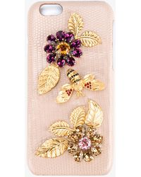 Dolce & Gabbana - Embellished Iphone 6 Case - Lyst