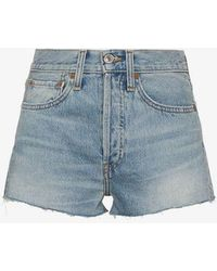 RE/DONE - High Waisted Shorts - Lyst
