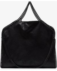 Stella McCartney - Black Falabella Faux Leather Tote - Lyst