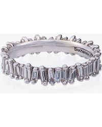 Suzanne Kalan - 18k White Gold And Diamond Eternity Band - Lyst