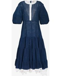 Natasha Zinko - Oversize Sleeve Tiered Dress - Lyst