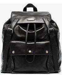 Saint Laurent - Black Leather Backpack - Lyst