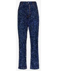 Ashish - Tinsel Sequin Embellished Straight Leg Jeans - Lyst